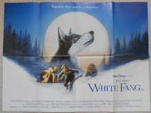 White Fang, Original DS UK Quad Poster, Walt Disney, Ethan Hawke, '91